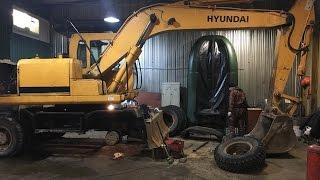 🚜Установка гидронасоса KAWASAKI на экскаватор HYUNDAI R-170W🔧Шиномонтаж -Ремонт трактора#5 часть👍(, 2017-01-24T17:18:25.000Z)