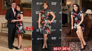 Thrifty Eugenie eschews tradition by recycling $5,175 Erdem dress for her official engagement