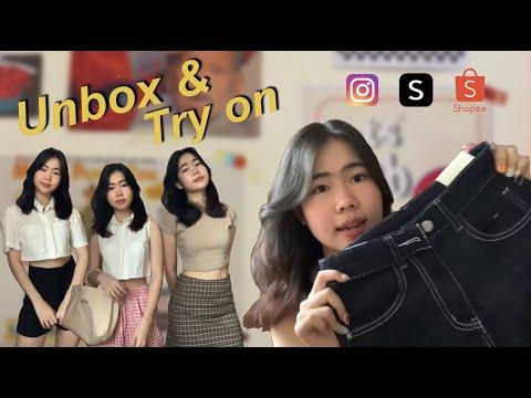 unbox & try on EP.2✨ แกะกล่องร้านเสื้อ กางเกง กระเป๋า จาก IG,Shopee,Shein แบบจัดเต็ม🤩🤩