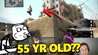 55-year-old DAD HAS INSANE REACTIONS! Clutches 1v2! - CS:GO Awesome Moments #18 Pro Plays,Highlights