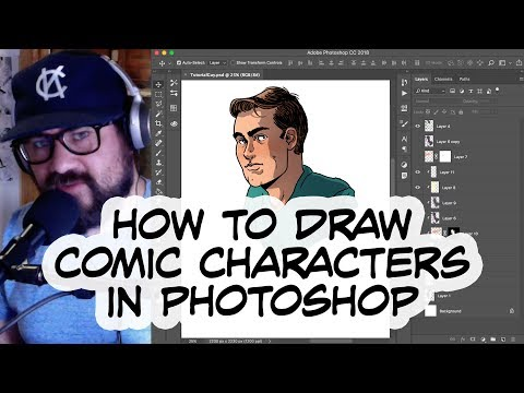 Drawing Comic Characters In Photoshop
