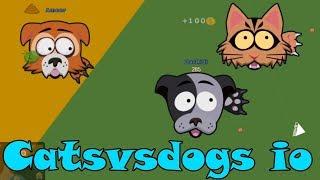 Catsvsdogs.io Собаки и коты ио Война за кустики!
