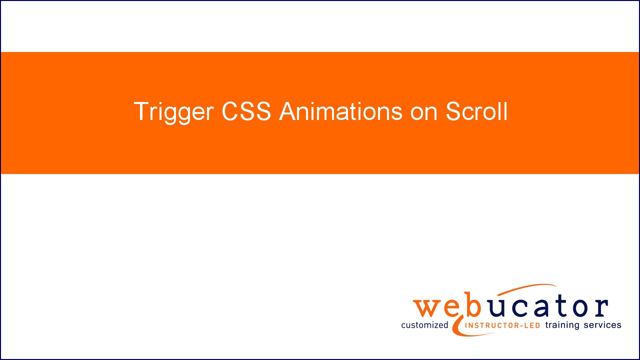 Trigger CSS Animations on Scroll