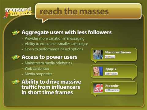 Sponsored Tweets : Overview