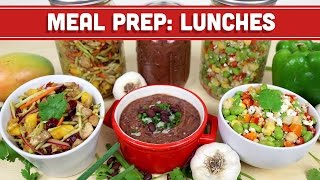 Meal Prep: Healthy Lunch Back To School Ideas! Soup/salad/sides!