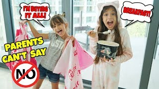 PARENTS CAN'T SAY NO! KIDS IN CHARGE - 7 YEARS OLD CONTROLS OUR DAY!