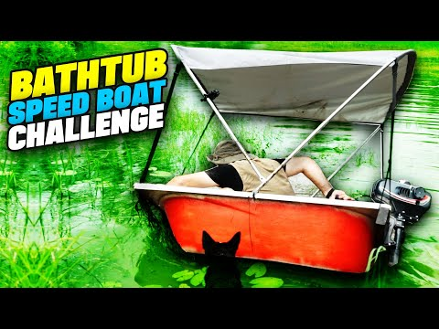 BATHTUB SPEEDBOAT CHALLENGE! - Swamp Speedboat! | Sick Puppy 4x4