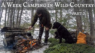 A Week Camping in Wild Country: SURVIVAL SKILLS & SPRING STORMS - PART 2