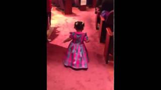 This baby's  praise break was everything!