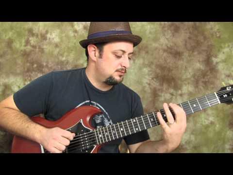 """A"" major pentatonic run - easy electric guitar lesson"