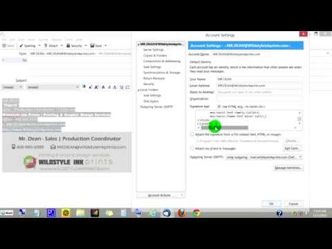 How to create a signature in Mozilla Thunderbird