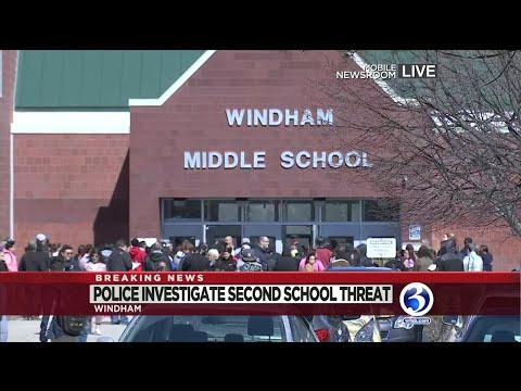 Video: Police investigate second threat at Windham school
