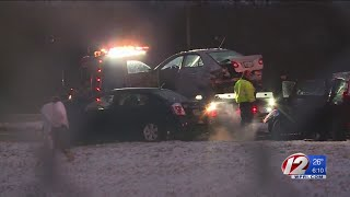 Numerous crashes reported due to icy conditions