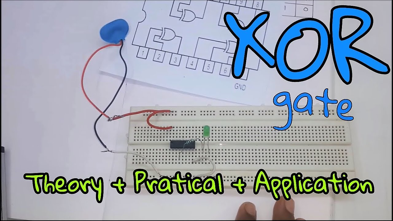logic gates xor gate theory practical application in hindi  [ 1280 x 720 Pixel ]