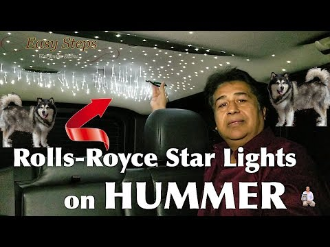 This Is How I Installed LED Fiber Optic Star Lights | Relaxing Lights On My HUMMER