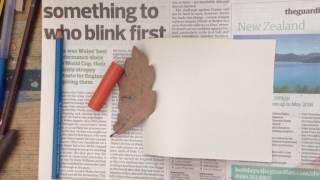 Wax crayon art rubbing tutorial