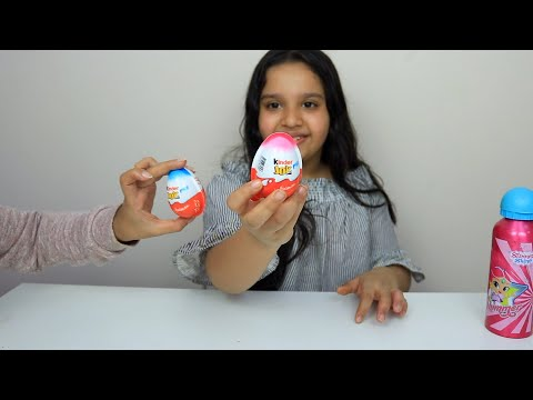 تجربة شوكولاتة كندر!! Chocolate Kinder Joy Surprise EGG Toy Review