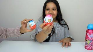 تجربة شوكولاتة كندر!! chocolate Kinder Joy surprise EGG Toy Review