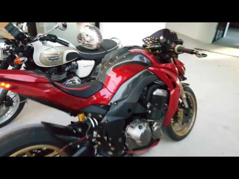 PeteZ1000 : เสียงท่อแต่ง Kawasaki Z1000 Exhaust Sound SC-Project