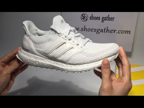 new concept dfaef 74c98 UA Ultra Boost Triple White 2 0 Sneaker Shoes Unboxing Review