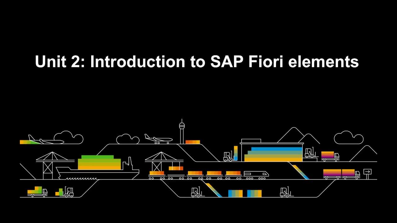 SAP Fiori Introduction 2/2: SAP Fiori Elements