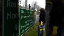 street sign cleaning in hereford part 1