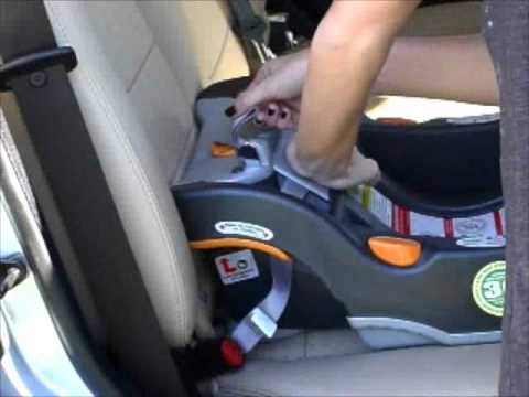 chicco keyfit car seat installation youtube