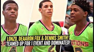 Lonzo Ball, DeAaron Fox & Dennis Smith in 10th Grade Played On The SAME TEAM & DOMINATED Everyone!! Video