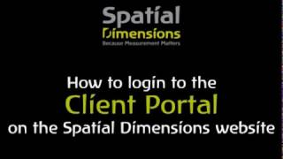 How to login to client portal area on Spatial Dimensions website