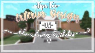 Tips and Tricks For Exteriors!   ! Nixilia Roblox Bloxburg