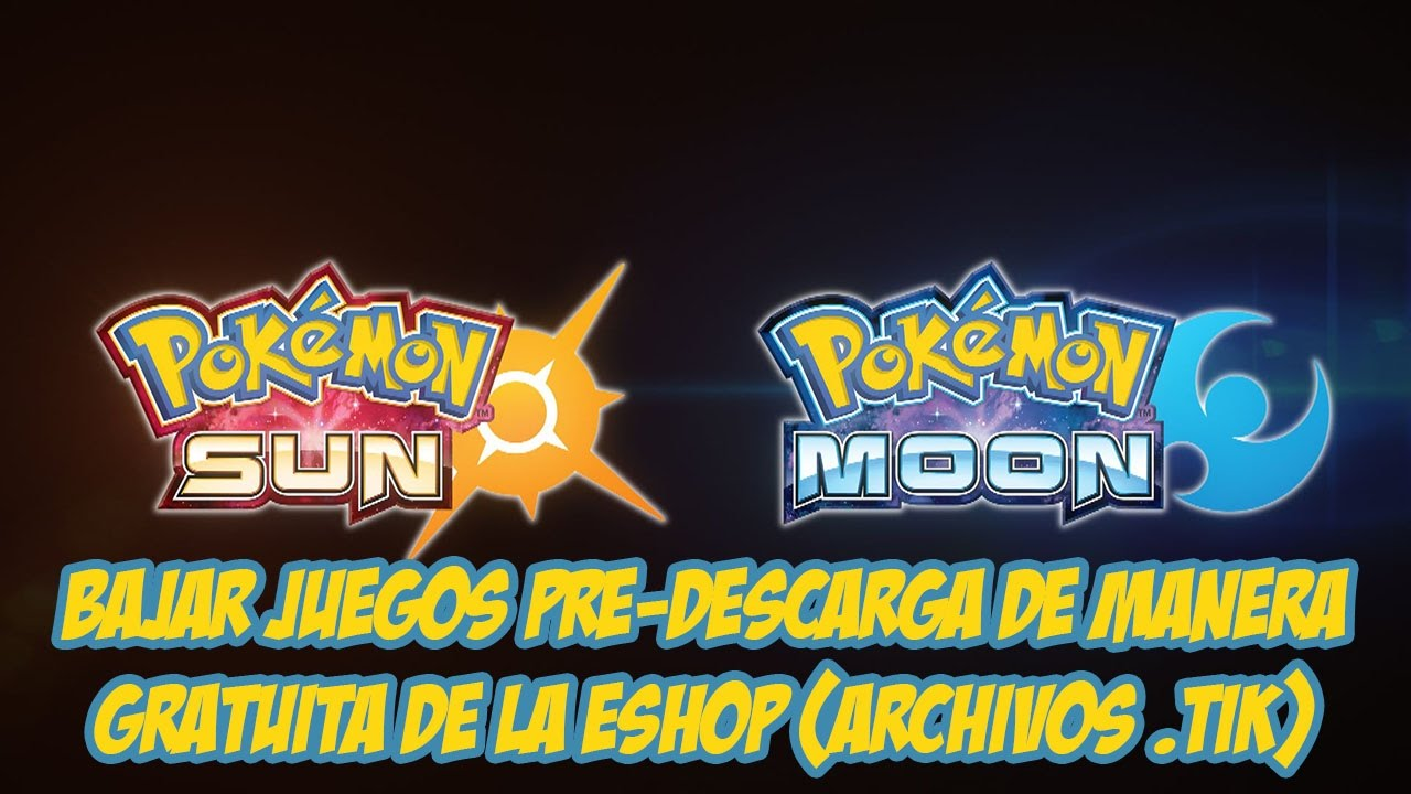 Tutorial Descargar Juegos Pre Compra Pokemon Sol Y Luna Gratis De