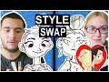 2 Artists: SWAP ART STYLES!