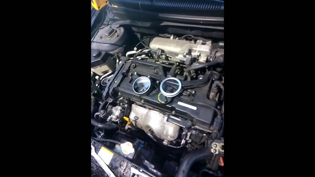 hyundai accent 2009 coolant temperature sensor location and replacement [ 1280 x 720 Pixel ]
