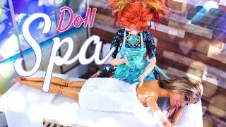 DIY - How to Make: Doll Spa - Massage Table | Sauna & more