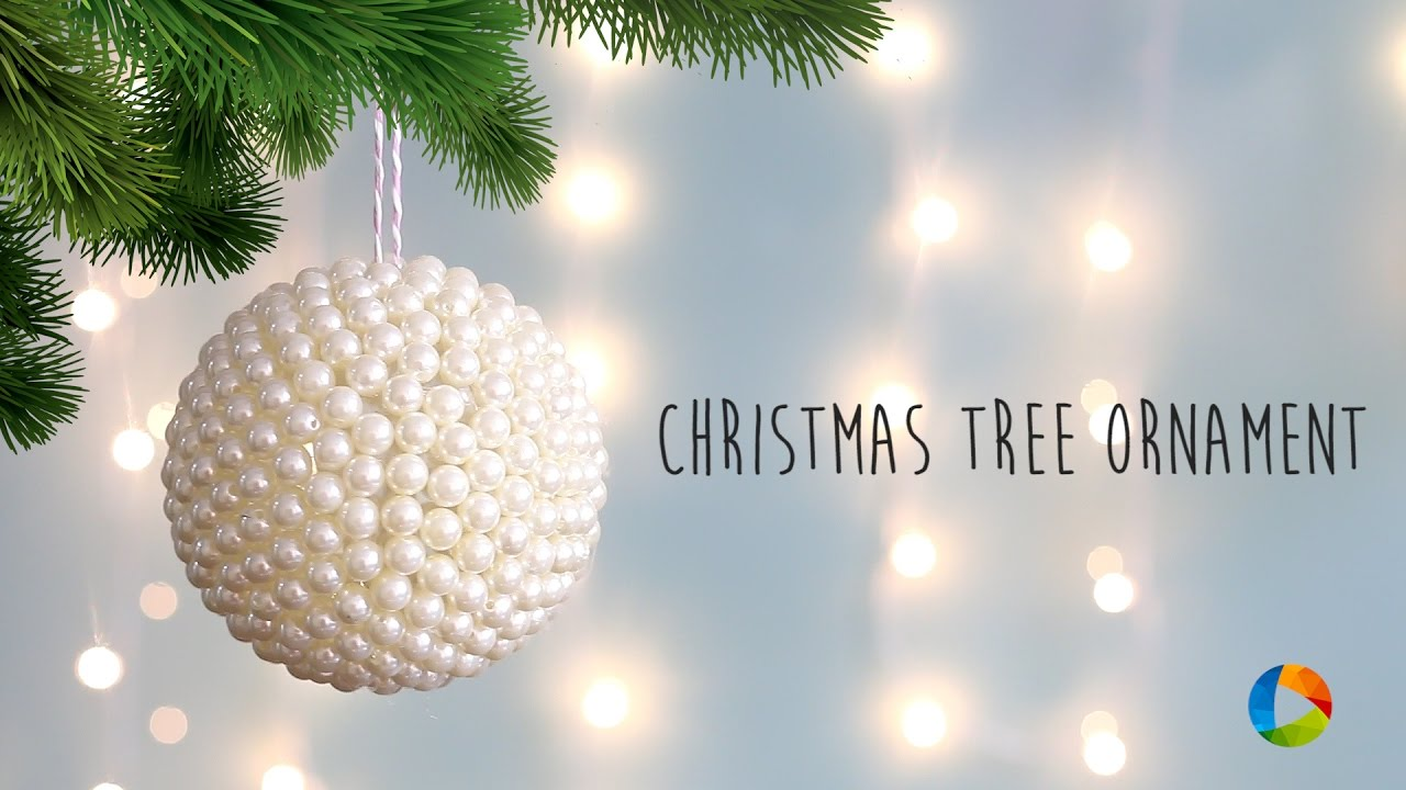 diy christmas tree ornament with pearls - The Christmas Pearl