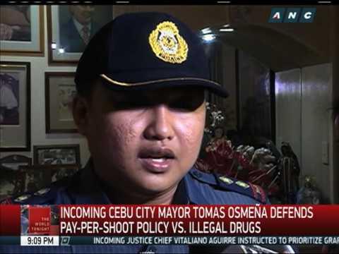 Incoming Cebu City mayor defends 'pay-per-kill' policy