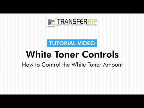 TransferRIP Part 6 #3   Control the White Toner Amount - White Channel Controls