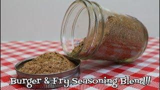 Burger and Fry Seasoning~Homemade Seasoning~Tasty Burger Seasoning Recipe~Seasoning Blend~Noreen