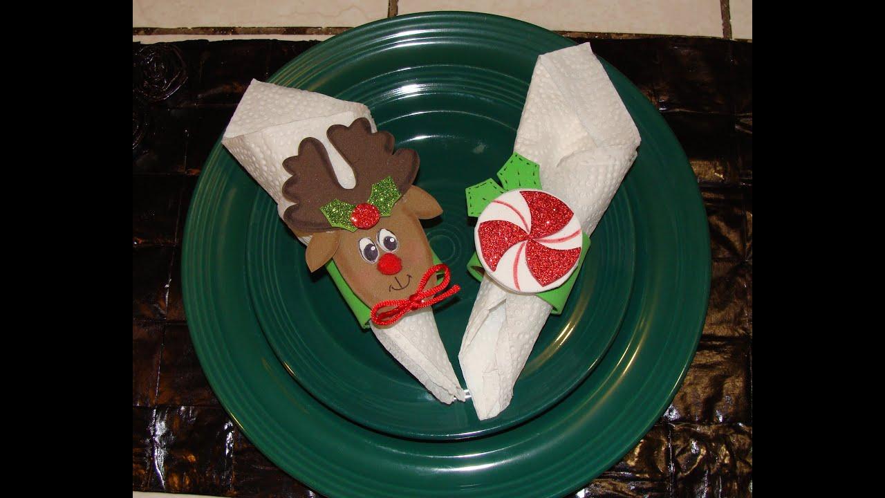 Diy porta servilletas navide o christmas napkin ring youtube - Manualidades de navidad paso a paso ...