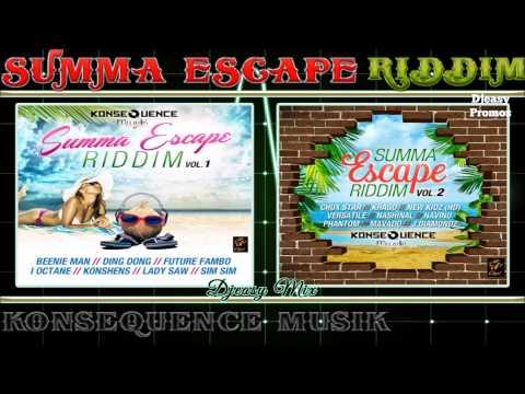 Summa Escape Riddim mix  [FULL PROMO JUNE 2015] {KONSEQUENCE MUZIK}