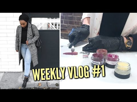 SHOWING YOU MY OLD WORKPLACE & MAKING MY OWN LIPSTICK!! | WEEKLY VLOG #1 | Aysha Abdul