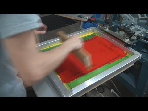 How To Screen Print Air Dry Ink: Plastic & Poster Board Signs