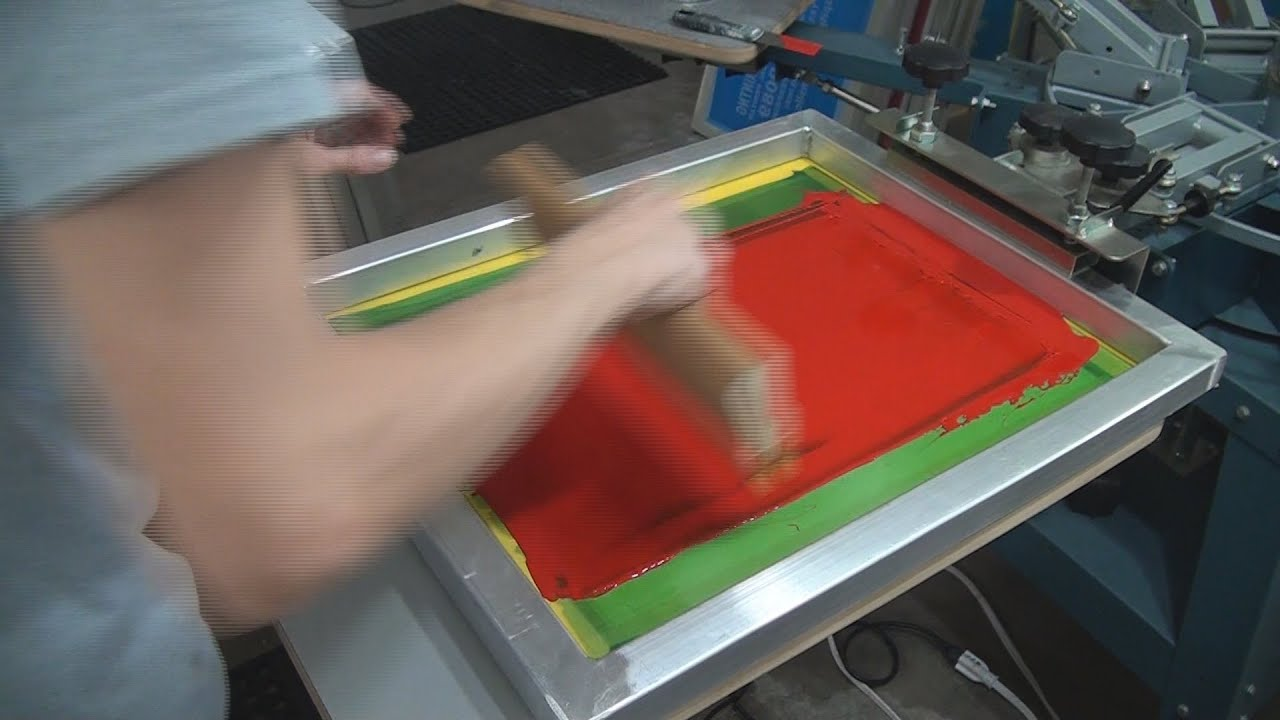 How To Screen Print Air Dry Ink Plastic Poster Board Signs