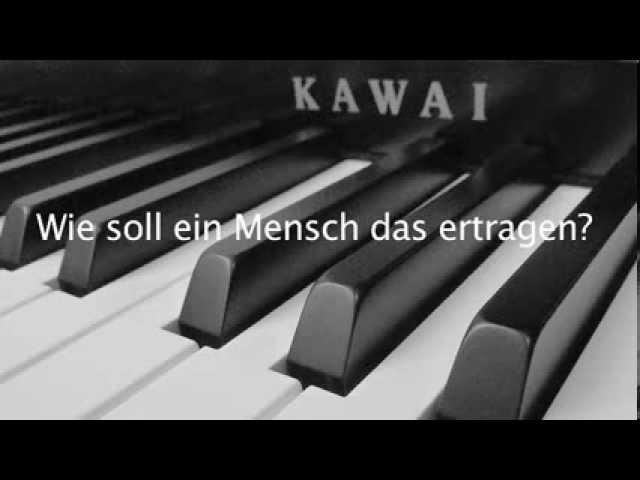 Philipp Poisel - Wie soll ein Mensch das ertragen (Lyrics and Piano Cover) Chords - Chordify