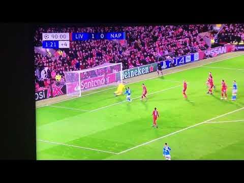 PARATA ASSURDA DI ALLISON | Liverpool Napoli 1-0