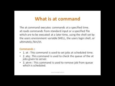 The AT Server, What is at command, Executes commands at a specified time