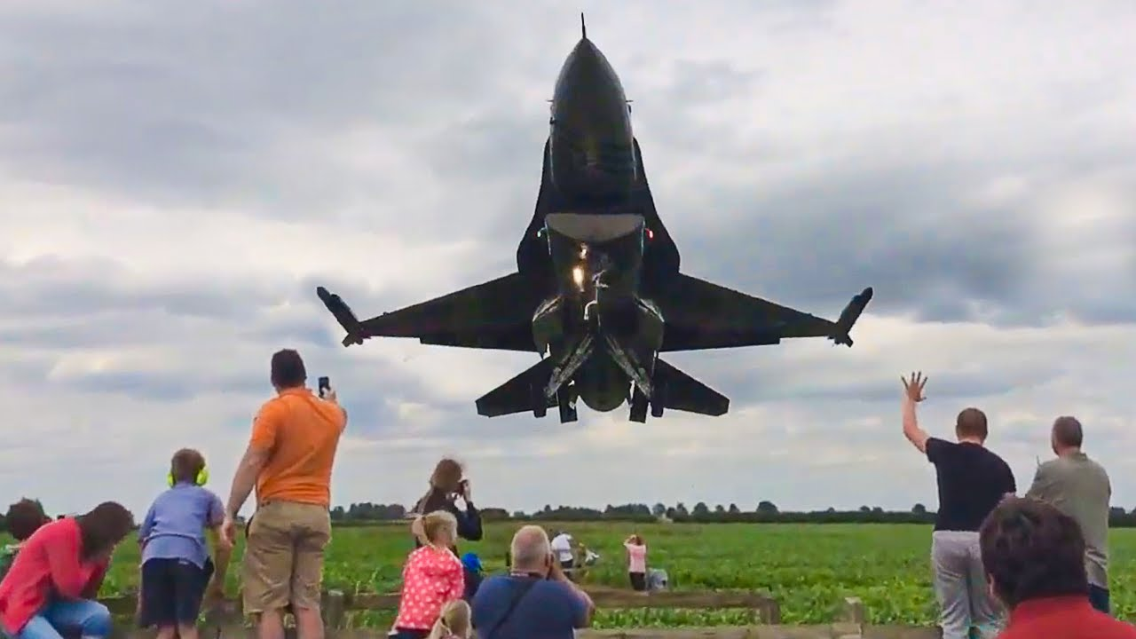 Fighter Jet Almost Hits Crowd