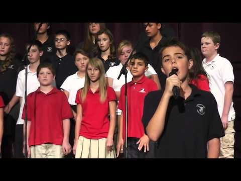American Tears - Jaime Milson (10 yrs) and ACS Jr. High Choir