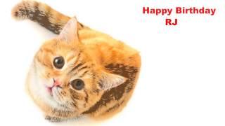 RJ  Cats Gatos - Happy Birthday