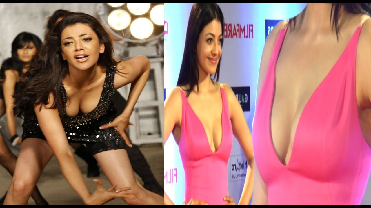 Kajal Agarwal Hot Cleavage Show Latest 2017